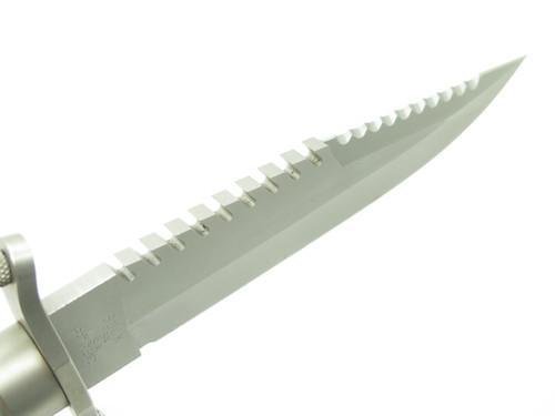 Vtg 1985 Buck 184 Buckmaster Variation 3 Fixed Bowie Navy Seal Survival Knife