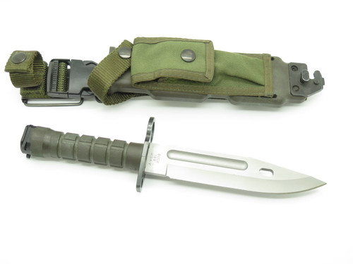 Vintage 1989 Buck 188 Phrobis Civilian Four Line Survival Fixed Combat Knife