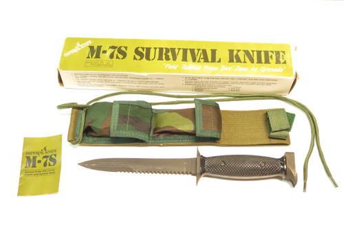 Vintage Imperial M-7S USA Survival Fixed Blade Fighting Knife in Box