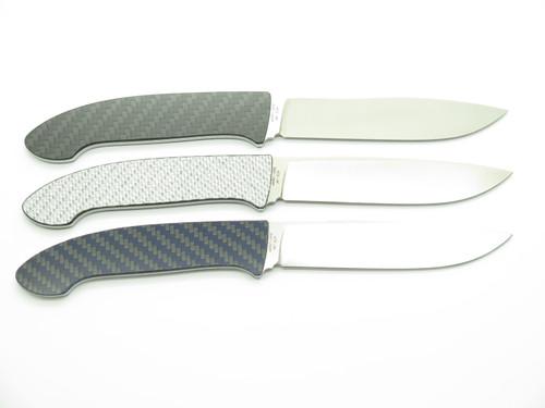 Vtg Seki Cut Japen Bob Lum SC110 Small Encounter ATS-34 Carbon Fiber Fixed Knife