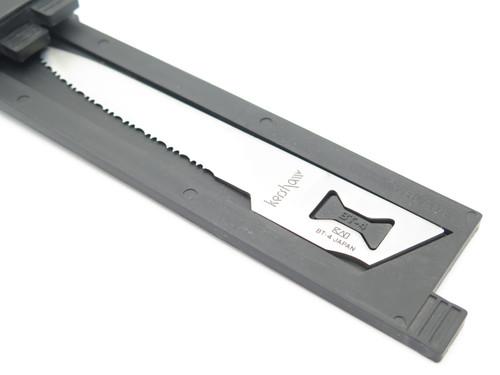 Vtg Kershaw Kai 1095 Seki Japan 4 Blade Trader Saw Fillet Fishing Camp Knife