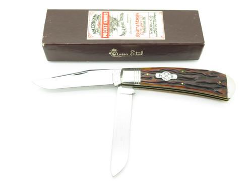 Schatt & Morgan 043163 File & Wire ATS-34 Bone Folding Trapper Pocket Knife