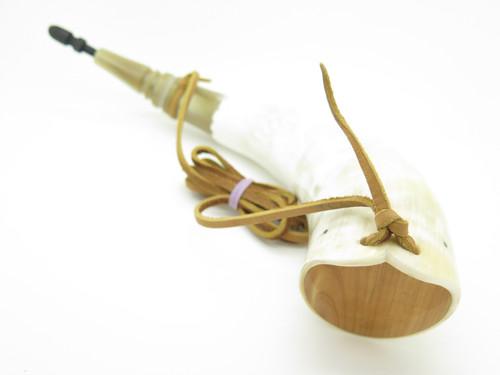 Handmade John Nelson Idaho 15.5 French Indian War Mountain Man Black Powder Horn