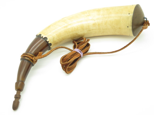 Handmade John Nelson Idaho 14.2 French Indian War Mountain Man Black Powder Horn