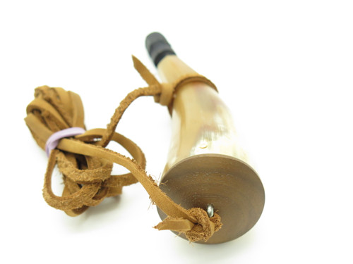 "Handmade John Nelson Idaho 4.5"" Mini French Indian War Mountain Man Powder Horn"