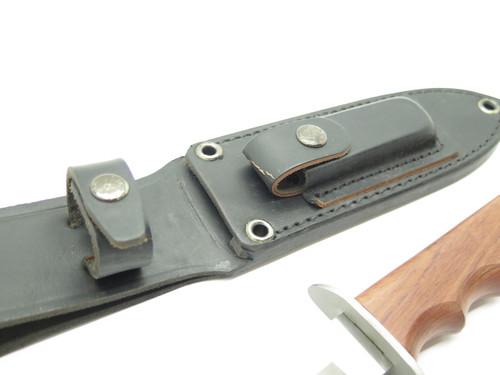 "Vintage Haru Seki Japan Custom ATS-34 Wood Combat Fixed 5.5"" Blade Knife"