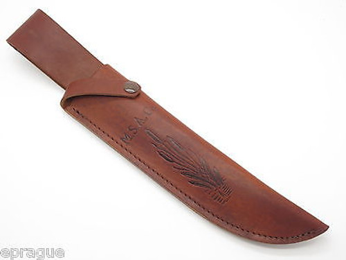 "USA M.S.A. Co MARBLES TRAILMAKER LEATHER BOWIE KNIFE SHEATH 10"" FIXED BLADE"
