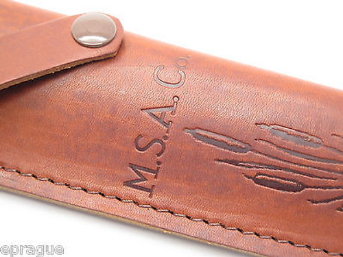 """USA M.S.A. Co Marbles Trailmaker Leather Bowie Knife Sheath 10"""" Fixed Blade"""