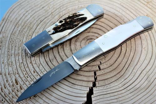 Seizo Imai Seki Japan ATS-34 Jess Horn Lockback Folding Knife Making Blade Blank