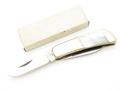 Vtg Kershaw Kai 5700 Seki Japan Gentleman Pearl 2 Blade Folding Pocket Knife