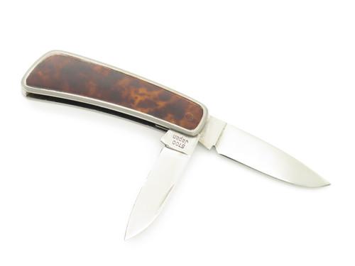 Vtg Kershaw Kai 5700 Seki Japan Gentleman Lacquer 2 Blade Folding Pocket Knife