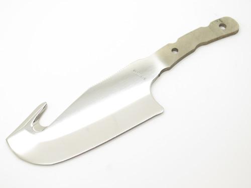 Vtg Browning Seki Japan Fukuta Wasatch Guthook Cleaver Fixed Knife Blade Blank