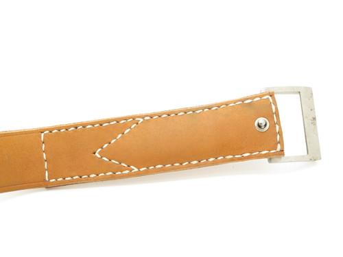 """Vintage 1970s Valor 1387 Tak Fukuta Seki Japan 46.5"""" Belt Buckle Fixed Blade Knife, Bowen Collins Brothers Design"""
