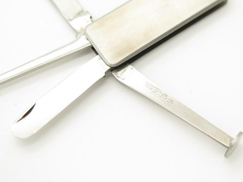 Vtg Big Ben Japan 4 Blade Stainless Folding Knife Tobacco Pipe Tamper Tool