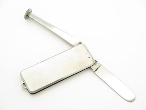 Vtg Explorer Seki Japan 2 Blade Stainless Folding Knife Tobacco Pipe Tamper Tool