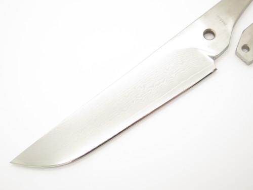 Fumio Inagaki Seki Japan Large Skeleton VG-10 Damascus Fixed Hunting Camp Knife