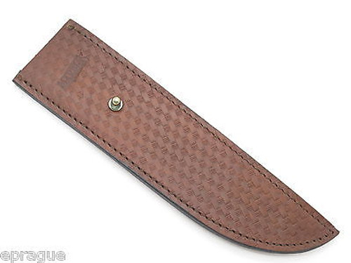 "MARBLES TRAILMAKER LEATHER BELT PIN BOWIE KNIFE SHEATH 10"" FIXED BLADE COLD STEEL"