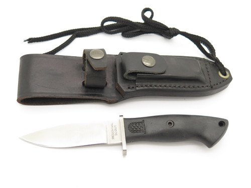 Vtg Resqvival Scout Seki Japan Small Fixed Blade Hunting Survival Knife
