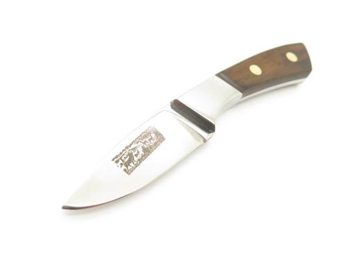 Vtg Animal Scene (Hattori) Seki Japan Snall Stainless Fixed Blade Hunting Knife