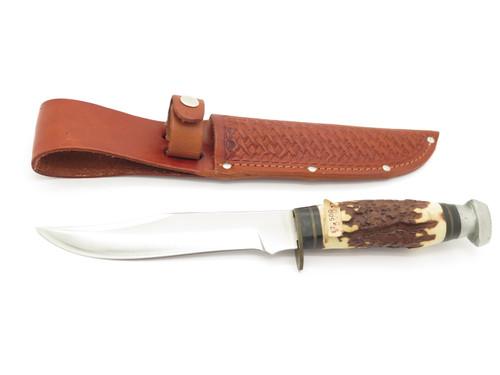 Vintage Prototype (Tak Fukuta) Seki Japan Faux Stag Fixed Blade Hunting Knife