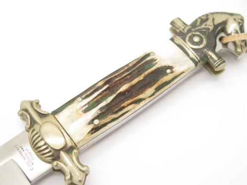 C Jul Herbertz Custom Tak Fukuta Seki Japan Stag Presentation Horse Dagger Knife