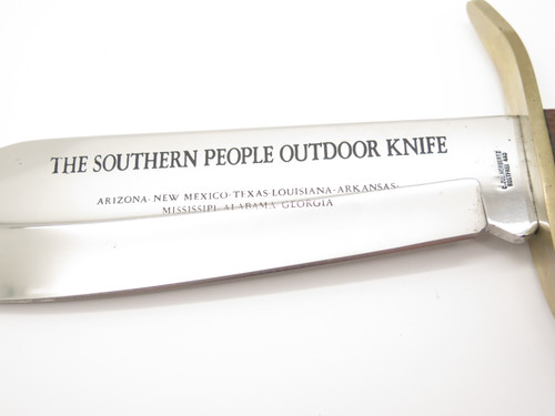 Vtg C Jul Herbertz German W49 Style Fixed Blade Southern USA States Bowie Knife