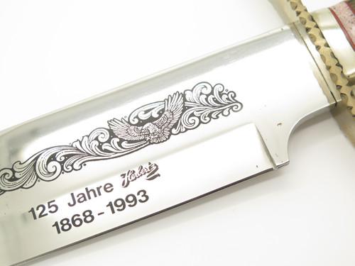 Vintage 1993 Herbertz German 125 Year Anniversary Fixed Blade Bowie Knife