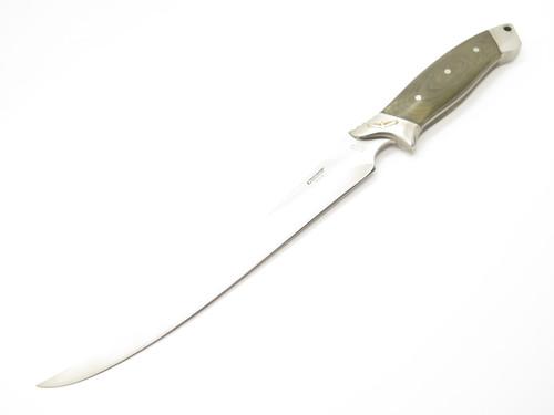 """Vtg Condor 87 SSG Yoshida Seki Japan Large Fixed 9"""" Fillet Fishing Boning Knife"""