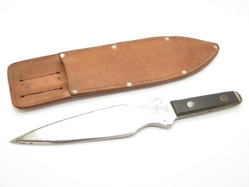 """Vintage Harry McEvoy Tru Bal 1976 Bicentennial Large 13.5"""" Long Throwing Knife"""