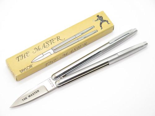 Vintage Taylor Seto 1275 The Master 1984 S.A.T. Folder Seki Japan Pen Folding Balisong Butterfly Knife