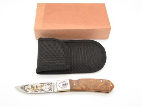 Vtg Browning Citori VI Seki Japan Limited Edition Folding Lockback Pocket Knife