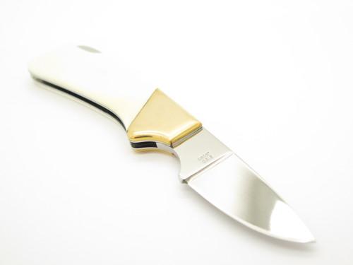 """Vtg Kershaw Kai 2120 Macho Seki Japan Bone 4"""" Folding Lockback Pocket Knife"""