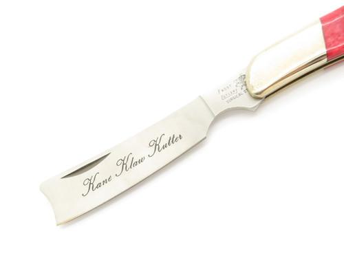 Vtg Frost Cutlery Seizo Imai Seki Japan Red Bone Razor Folding Pocket Knife