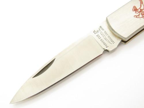 Vtg 1982 Parker Tennessee Football Imai Seki Japan Lockback Folding Pocket Knife