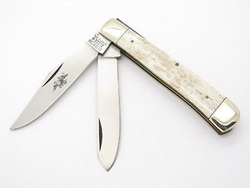 Vtg Parker American Blade Seki Japan Bone Trapper Folding Pocket Knife