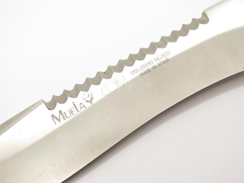 Vtg Muela Spain Fixed Blade Survival Bowie Hunting Knife & Sheath
