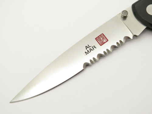 Vintage Al Mar Seki Japan Eagle Ultralight Micarta AUS-8 Folding Lockback Knife