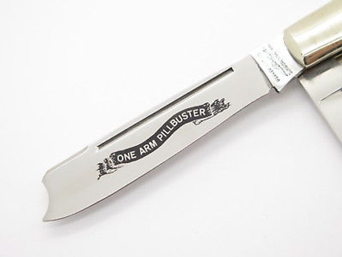 Vtg Parker Seki Japan Bone Pillbuster Barlow Folding Pocket Knife