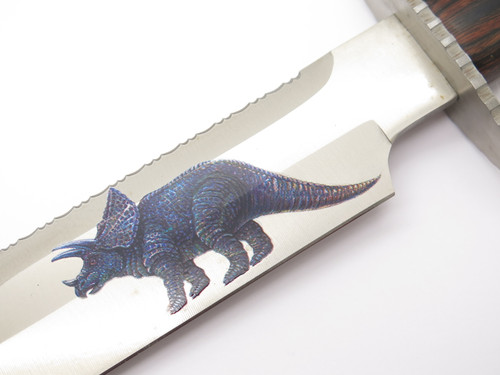 Vtg 1980s Tak Fukuta Seki Japan Frost Dinosaur Sample Fixed Bowie Knife