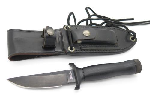 Vtg 1980s Explorer Seki Japan Black Night Raider Fixed Blade Survival Knife