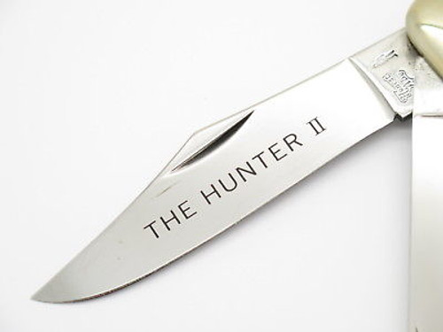 Vtg 1980s Honest Abe Parker Seki Japan Red Bone Large Folding Hunter Knife