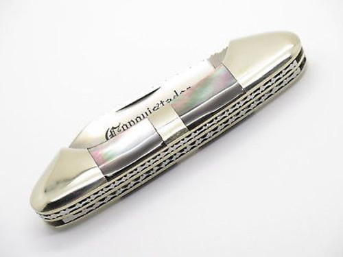Vtg United Custom Seki Japan Pearl Conquistador Canoe Folding Pocket Knife
