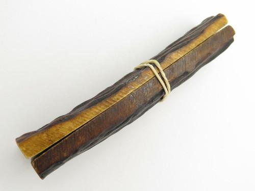 VINTAGE 4.75 x 1.125 INDIA SAMBAR STAG SCALE SLAB KNIFE MAKING HANDLE GRIP BLANK