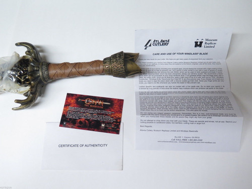 Conan The Barbarian Museum Replica Limited Father Sword Windlass Atlanta Knives