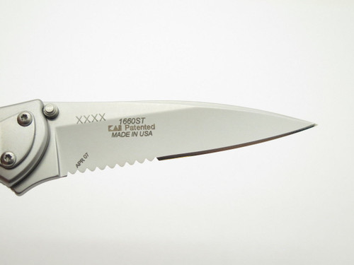 07 KERSHAW 1660 1660ST LEEK COMBO STAINLESS ONION FOLDING POCKET KNIFE BLEM
