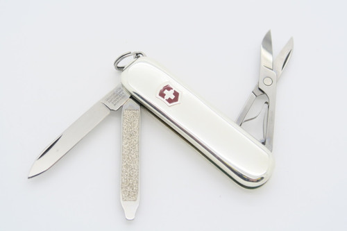 VICTORINOX CLASSIC SMOOTH 925 STERLING SILVER SWISS ARMY FOLDING POCKET KNIFE