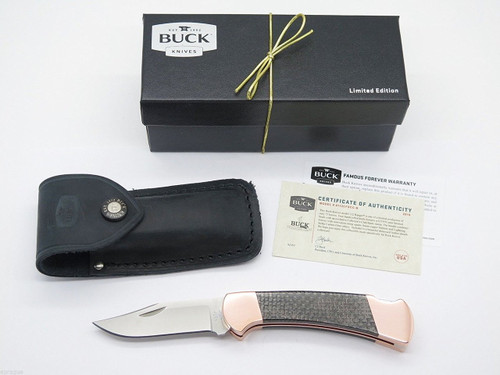 Copper S35VN Buck 112 Ranger Folding Hunter Knife Custom Limited BCCI 0112CFSCC