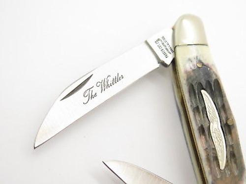 Vtg Parker Seki Japan Bone 3 Blade Humpback Whittler Folding Pocket Knife