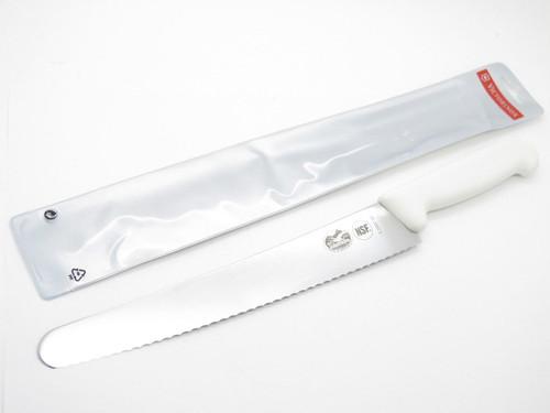 """VICTORINOX SWITZERLAND 5.2937.26 WHITE WAVY BREAD CAKE KITCHEN KNIFE 10"""" BLADE"""