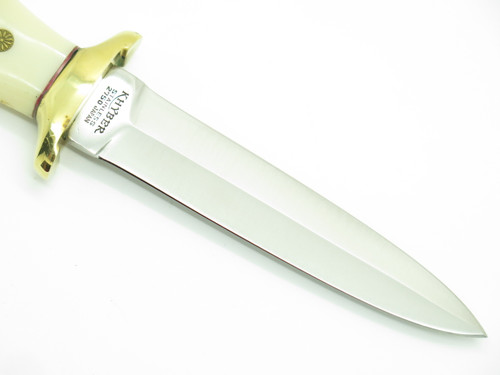 "Vtg Khyber Ka-bar 2750 Seki Japan Dagger Fixed 5"" Blade Knife & Sheath"